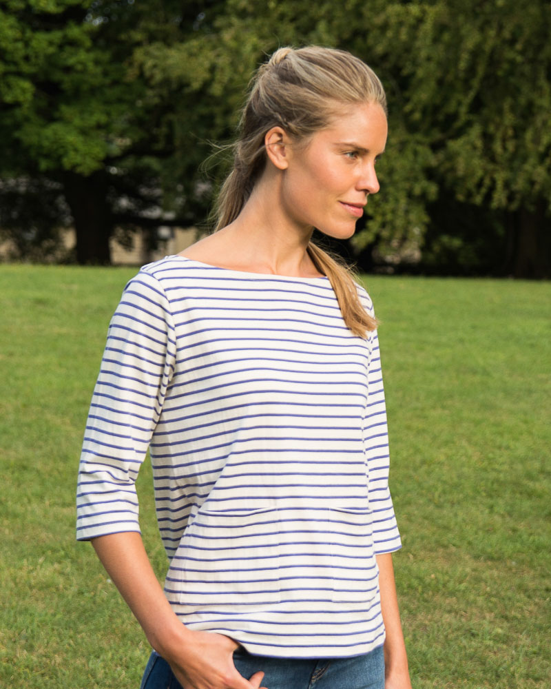 blue sailor striped t shirt