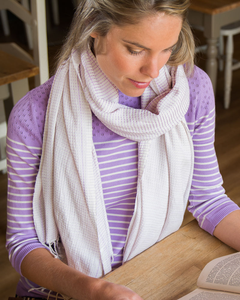 lavender scarf