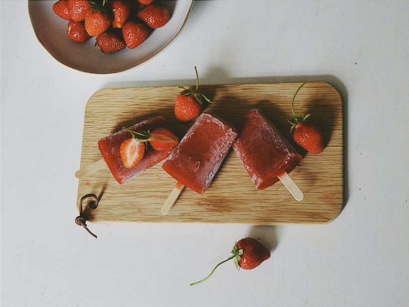 Littlegreenshed Strawberry Ice Pops