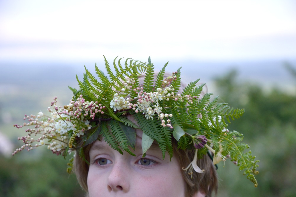 littlegreenshed blog midsummer flower crowns charlie
