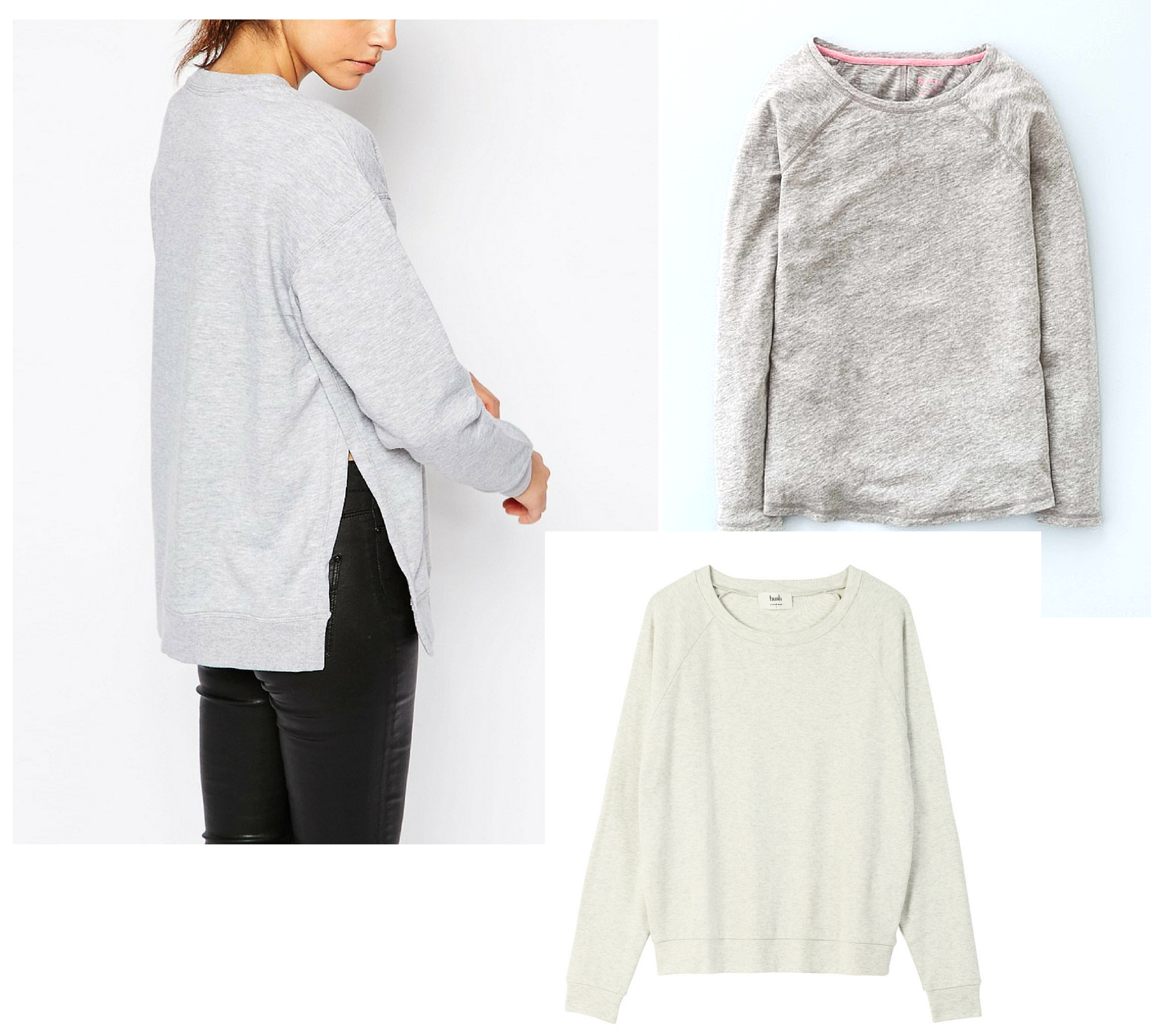 grey sweatshirt round up