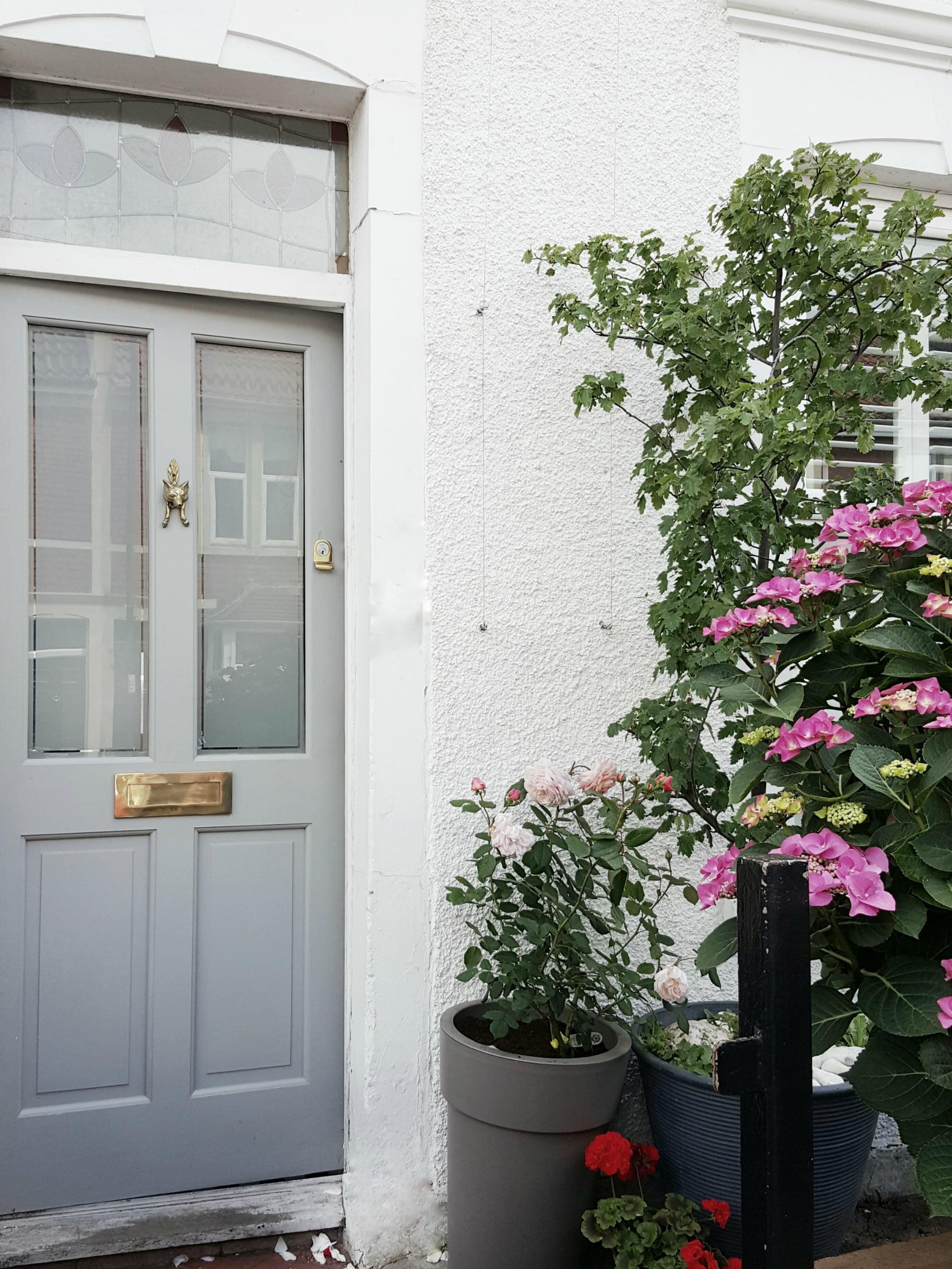 B&Q grey front door