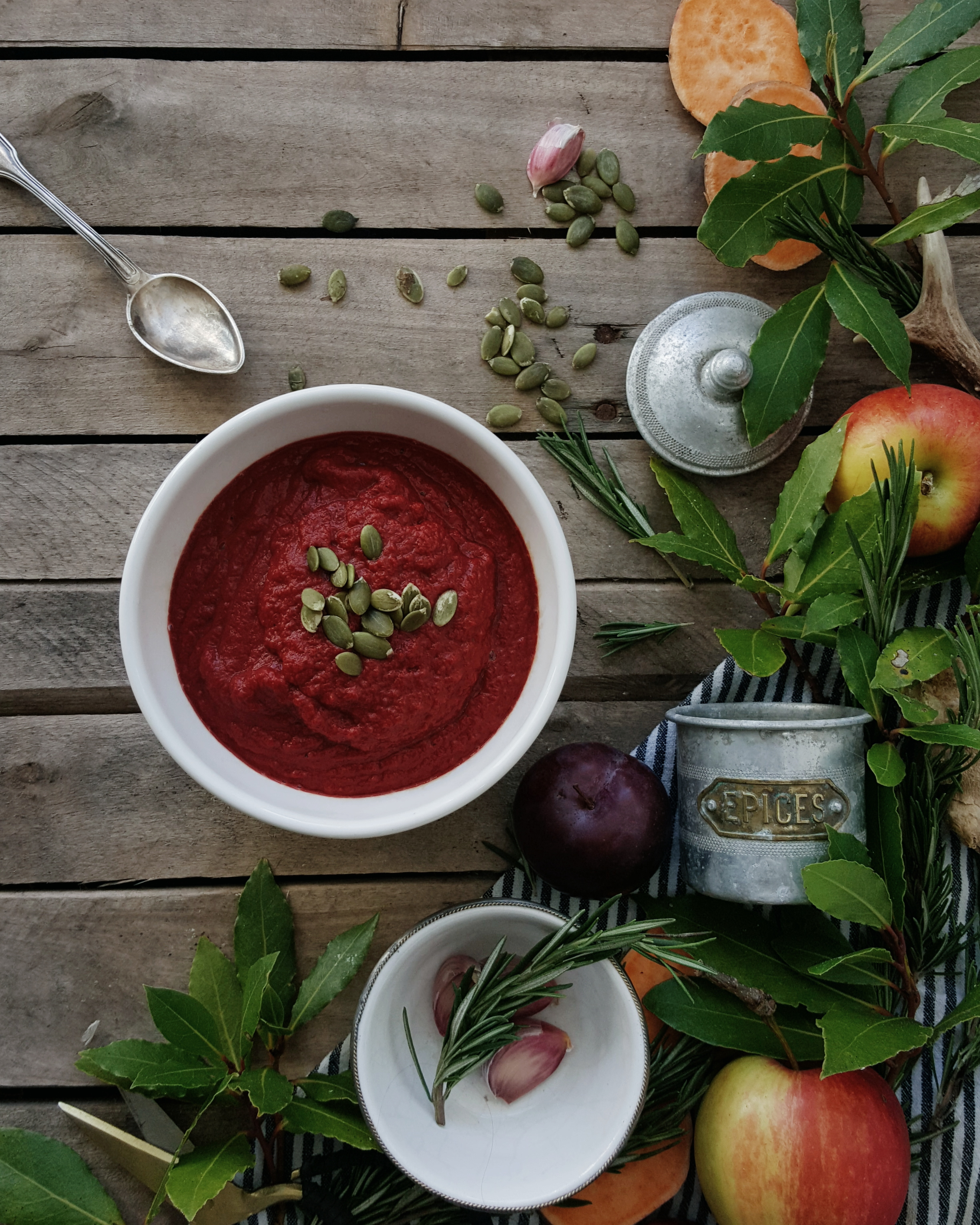 Beetroot and sweet potato soup Littlegreenshed Blog