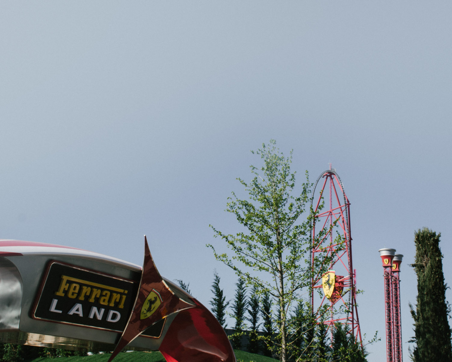 Red Force roller coaster at Ferrari Land