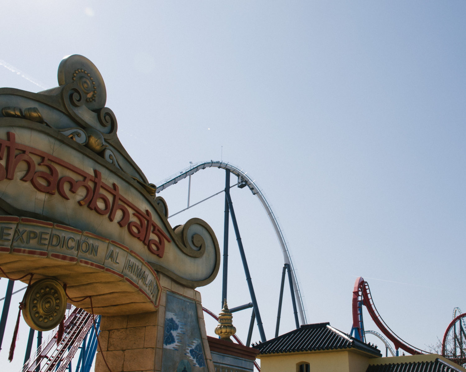 Europe's tallest roller coaster, Shambala, at Port Aventura World.