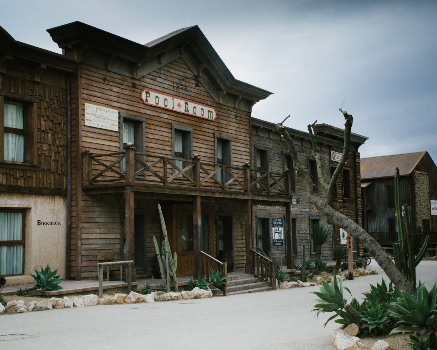 Cowboy facades at Gold River Hotel, Port Aventura Spain.